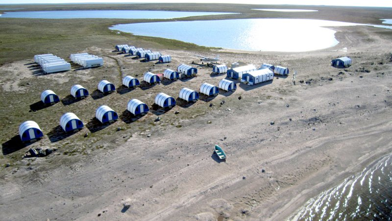Fabric Buildings Remote Camp System